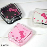 NEW VERY Cute Pink Hello Kitty Contact Lenses Case Set 3Cshop