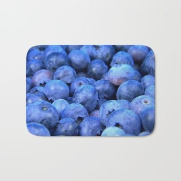 Blueberries Bath Mat by ARTPICS