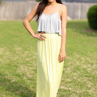 Spellbound Maxi - Yellow and Grey