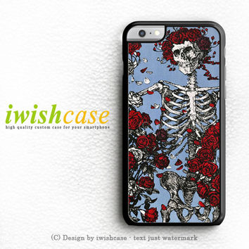 Grateful Dead Bones And Roses iPhone 6 Case iPhone 6 Plus Case Cover