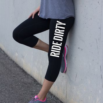 Women's Yoga Pants Ride Dirty