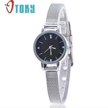 women watches silver Stainless Steel Mesh Band Wrist Watch for Ladies se13 Dropshipping