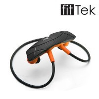fitTek Black Bluetooth Sport headphones earphones headset - Default