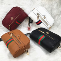 Gucci Women Personality Fashion Logo Letter Waist Bag Chest Bag Mini Small Round Bag Shoulder Messenger Bag