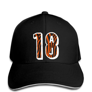 hip hop Baseball caps Funny Men hat Women novelty AJ Green Cincinnati_Bengals 18 Mens Premium 1 cool cap