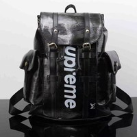 ONETOW Louis Vuitton x Supreme Fashion Backpack Tote Travel Bag Shoulder Bag