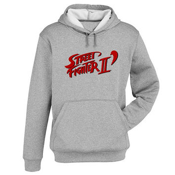 street fighter Hoodie Sweatshirt Sweater Shirt Gray and beauty variant color for Unisex size