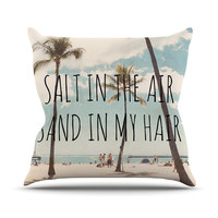 "Nastasia Cook ""Salt in the Air"" Beach Trees Outdoor Throw Pillow"