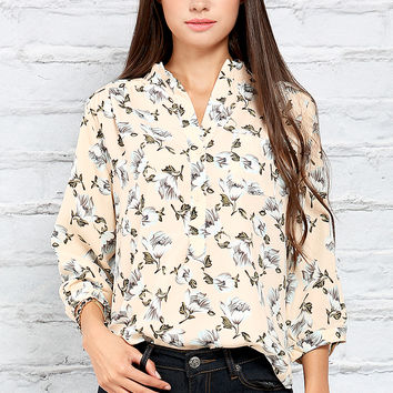 Floral Patterned Blouse