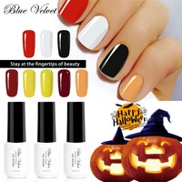 Blue Velvet 7ml Gel Nail Polish For Halloween Pumpkin Series Hot Sale Soak Off UV LED Gel Varnish Long Lasting Lacquer Nail Art
