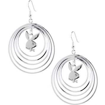 Officially Licensed PLAYBOY Circle Earrings