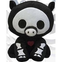 "Skelanimals Plush Series 3 8"""" Bill Deluxe (Pig) Plush"