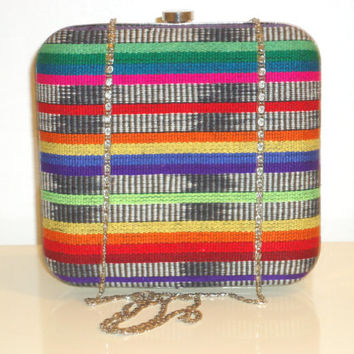 ON SALE Beautiful Must See Ethnic/Tribal Clutch/Crossbody Bag