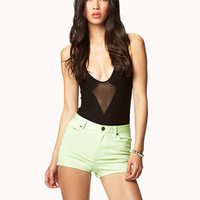 High-Waisted Colored Shorts