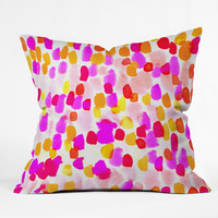 Rebecca Allen On Paper Throw Pillow
