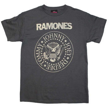 Ramones Distressed Crest T Shirt