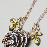 Karmaloop.com - Global Concrete Culture - The Pink Pendant Rose Necklace by Betsey Johnson