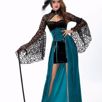 Deluxe Adult Halloween Girls Witch Costume