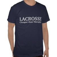 Lacrosse cheaper than theraphy from Zazzle.com