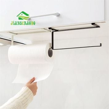 Kitchen Tissue Holder Hanging Bathroom Toilet Roll Paper Holder Towel Rack Kitchen Cabinet Door Hook Holder