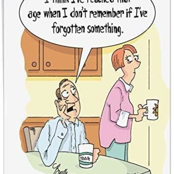 Jumbo Remember If I've Forgotten Birthday Card' Big Greeting Card - Getting Old, Becoming Forgetful - Funny Birthday Card - Free Shipping