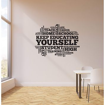 Vinyl Wall Decal Education School Student Study University Words Cloud Stickers Mural (ig5735)