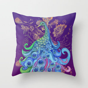 Peaceful ~ Dark Throw Pillow by Catherine Holcombe | Society6