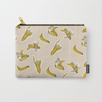 Eating process (Banana) // watercolor banana consumption Carry-All Pouch by Camila Quintana S