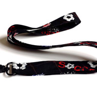 Soccer Lover Lanyard World Cup Accessories Womens Fashion Fabric Lanyards Soccer Accessories Keys Lanyard ID or Badge Holder