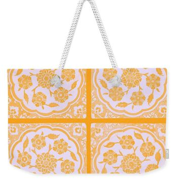 An Ottoman Iznik Style Floral Design Pottery Polychrome, By Adam Asar, No 14f - Weekender Tote Bag