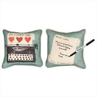 Manual Woodworkers and Weavers Vintage Love Collection Reversible Throw Pillow, 12 by 12-Inch, PS I Love You by Michael Mullan