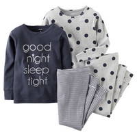 4-Piece Snug Fit Cotton PJs