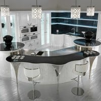 Lacquered oak kitchen with island DOLCE VITA by Brummel Cucine | design VM Design