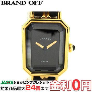 """Chanel Premiere M GP plating x leather """" Wristwatch from japan (10149"""