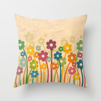 Stand In The Place Where You Live Throw Pillow by Robin Curtiss