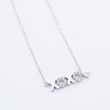 XOXO heart necklace