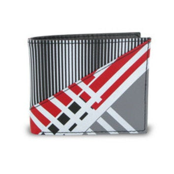 "Stylish Young Men""s Graphic Stripe Bifold Wallet"
