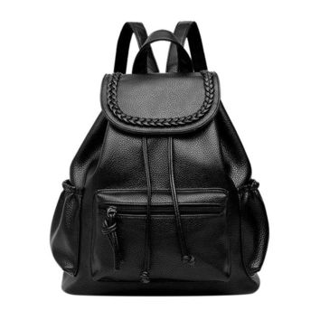 Summer new college wind schoolbag washed leather backpack woman tidal fashion leisure travel bag boutique backpacks