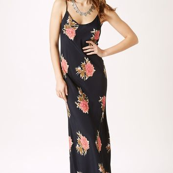 Blue Life Boho Beauty Maxi Dress in Big Red Floral