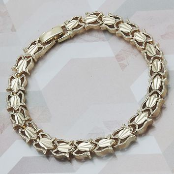 Gold Layered Women Fancy Bracelet, by Folks Jewelry