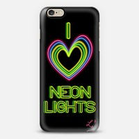 I Love Neon Lights - Black Background iPhone 6 case by Love Lunch Liftoff | Casetify