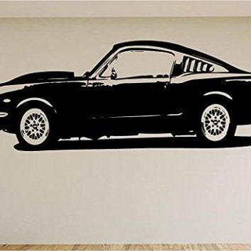 Ford Mustang Fast Back Car Auto Wall Decal Stickers Murals Boys Room Man Cave