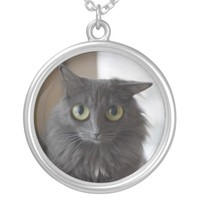 Funny Kitty Cat With Big Eyes Necklace Jewelry