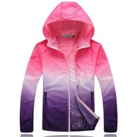 Quick Drying Windbreaker Waterproof Thin Hooded Jacket