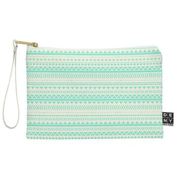 Allyson Johnson Mint Tribal Pouch
