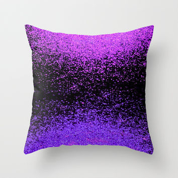 sparkly exchange Throw Pillow by Marianna Tankelevich