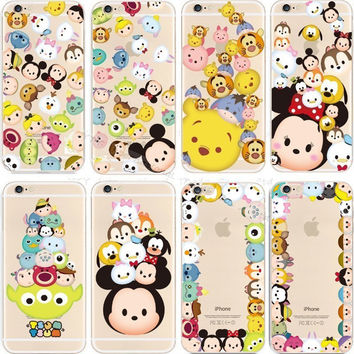 2015 Hot Sale For Apple iPhone 6 4.7 inch Case For iPhone6 Transparent Cute Cartoon Mickey Phone Cases Cell Phones Covers