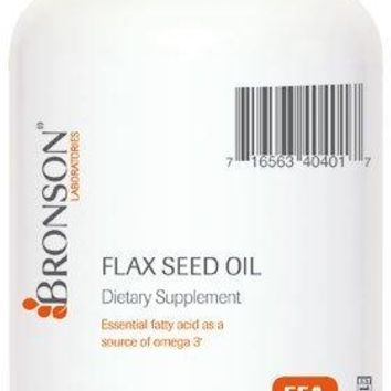 [Pack of 2] Bronson Flax Seed Oil, 60 Softgels Each