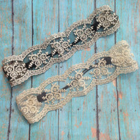 Lace Headband; Vintage feel lace; Great Gatsby Headband