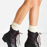 Hunter Quilted Short Lace-Up Boot